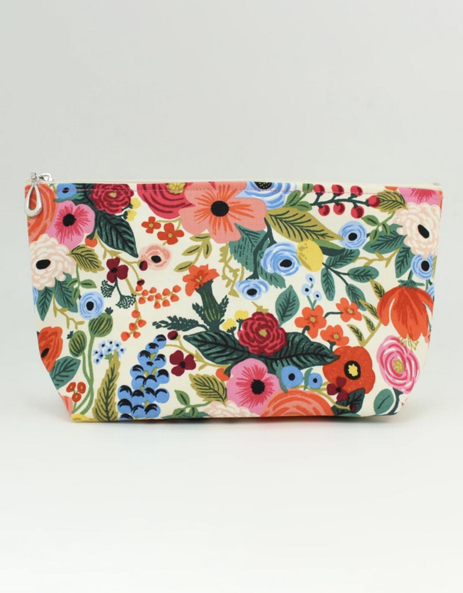 Dana Herbert Accessories Cosmetic Bag Medium : Cream & Pink Floral