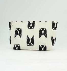 Dana Herbert Accessories Cosmetic Bag Medium : French Bulldog