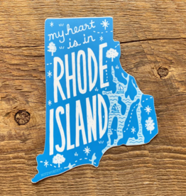 Noteworthy Paper & Press Rhode Island State Sticker