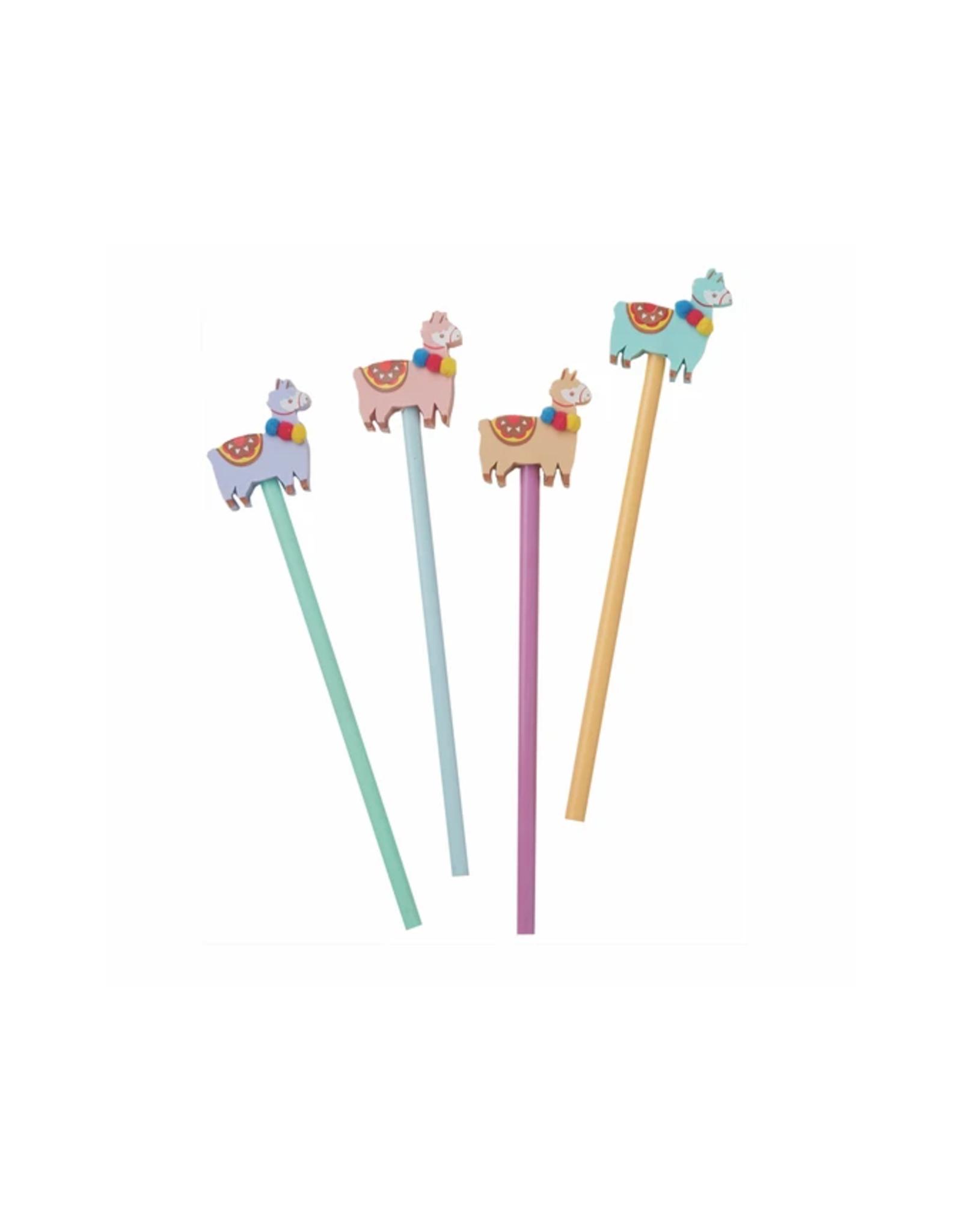 Llama Eraser and Pencil Set