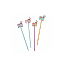 Llama Eraser and Pencil Set