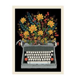 Flower Typewriter Print