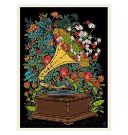 Flower Gramophone Print