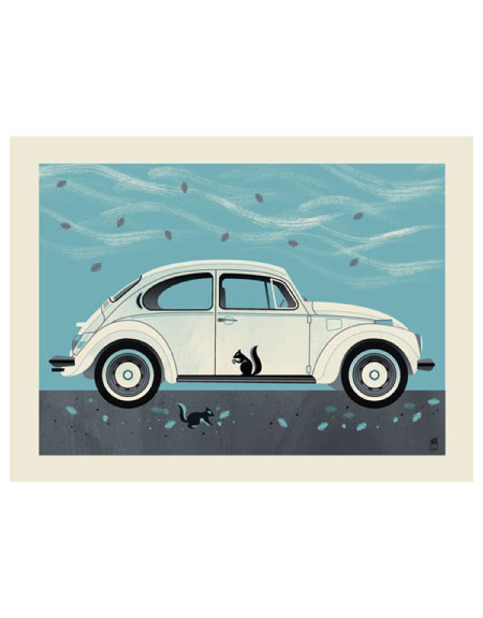 Winter Beetle Framed