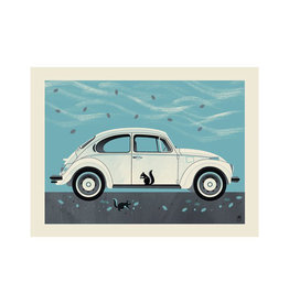 Winter Beetle Framed