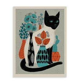 Vase Cat Print
