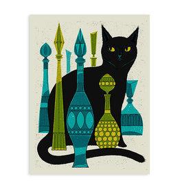 Bottle Cat Print