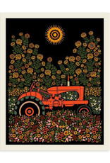 Tractor and Flowers Print