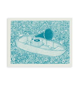 Music Flower Boat Print