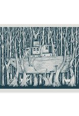 Tugboat in the Forest Print