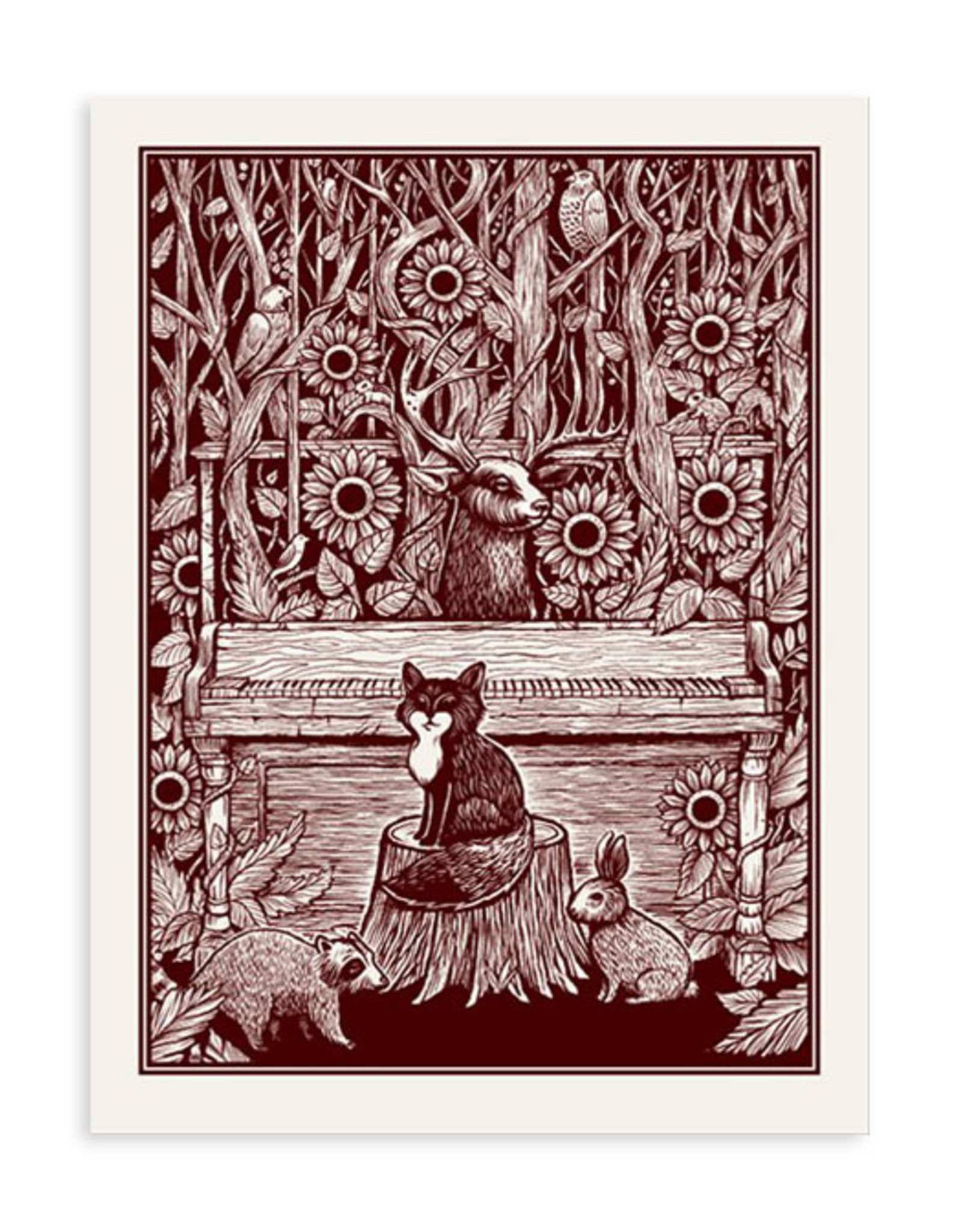 Piano in the Forest Print