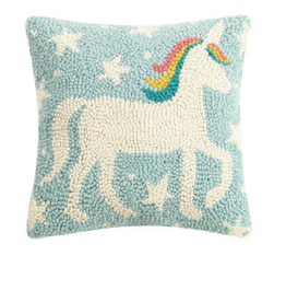 Peking Handicraft Unicorn Magic Handcrafted Hook Pillow