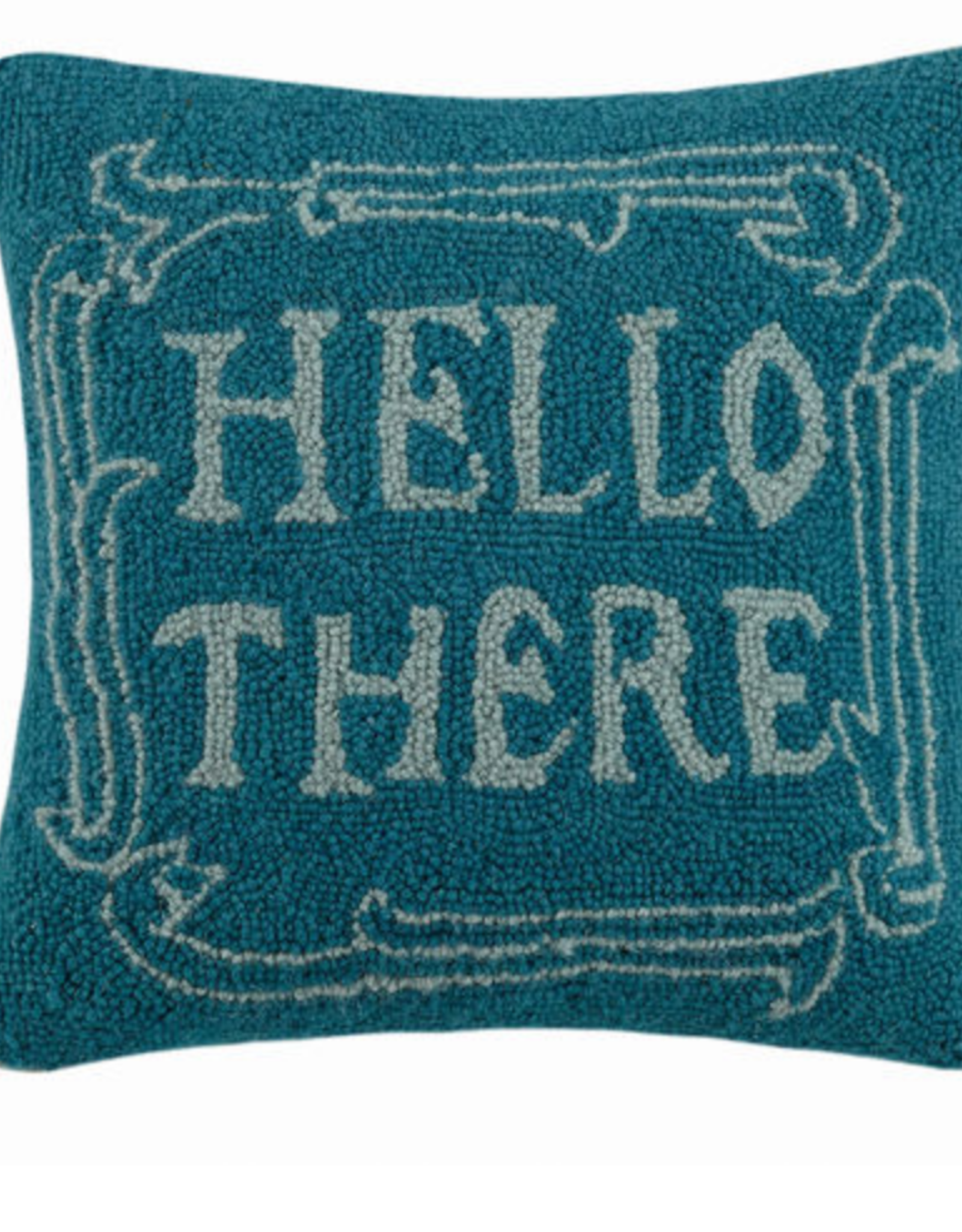 Hello There Handcrafted Hook Pillow