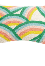 Dancing Rainbows Handcrafted Hook Pillow