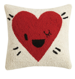Peking Handicraft Heart Wink Handcrafted Hook Pillow
