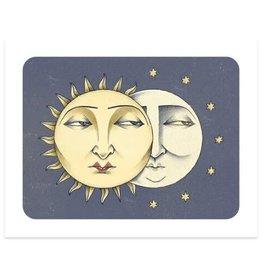 Paper Shuttle Sun & Moon Print