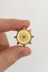 Helios Enamel Pin