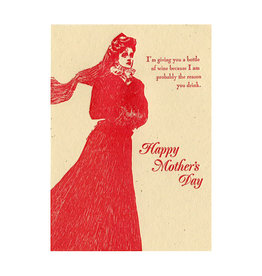 Bottle Of Wine Mother's Day Greeting Card