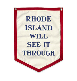 Oxford Pennant Rhode Island Will See It Through Camp Flag - PRE ORDER