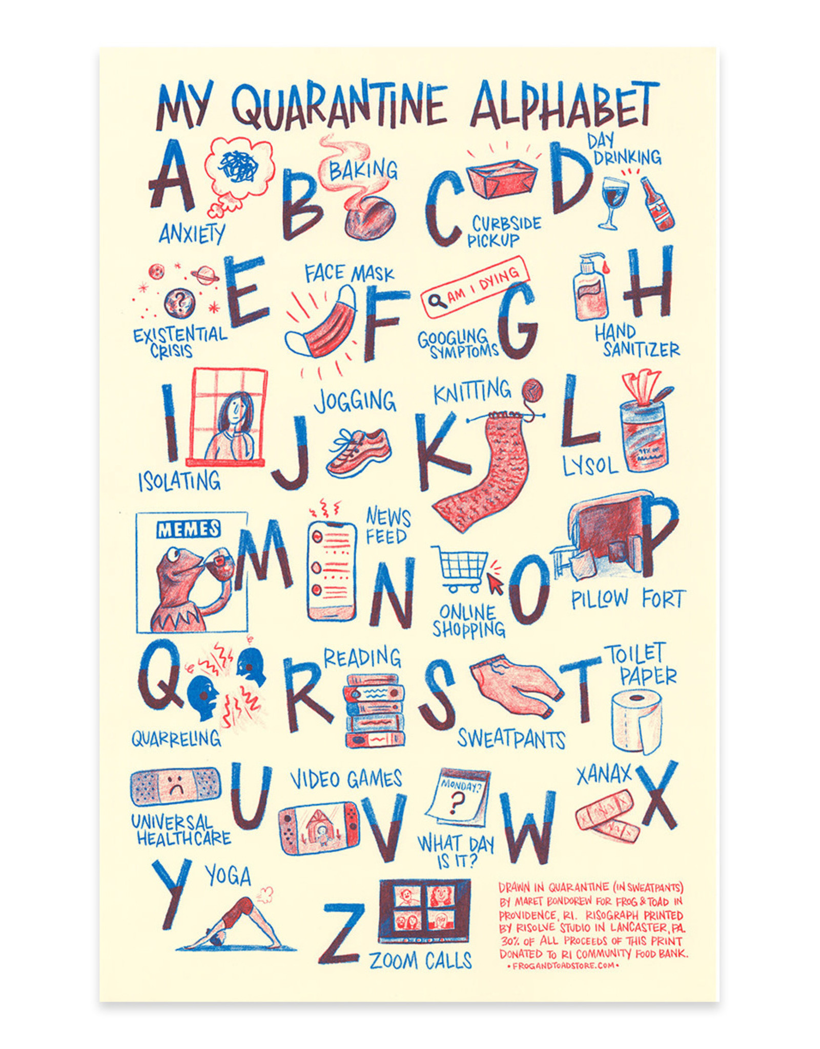 Quarantine Alphabet Print 2nd Edition