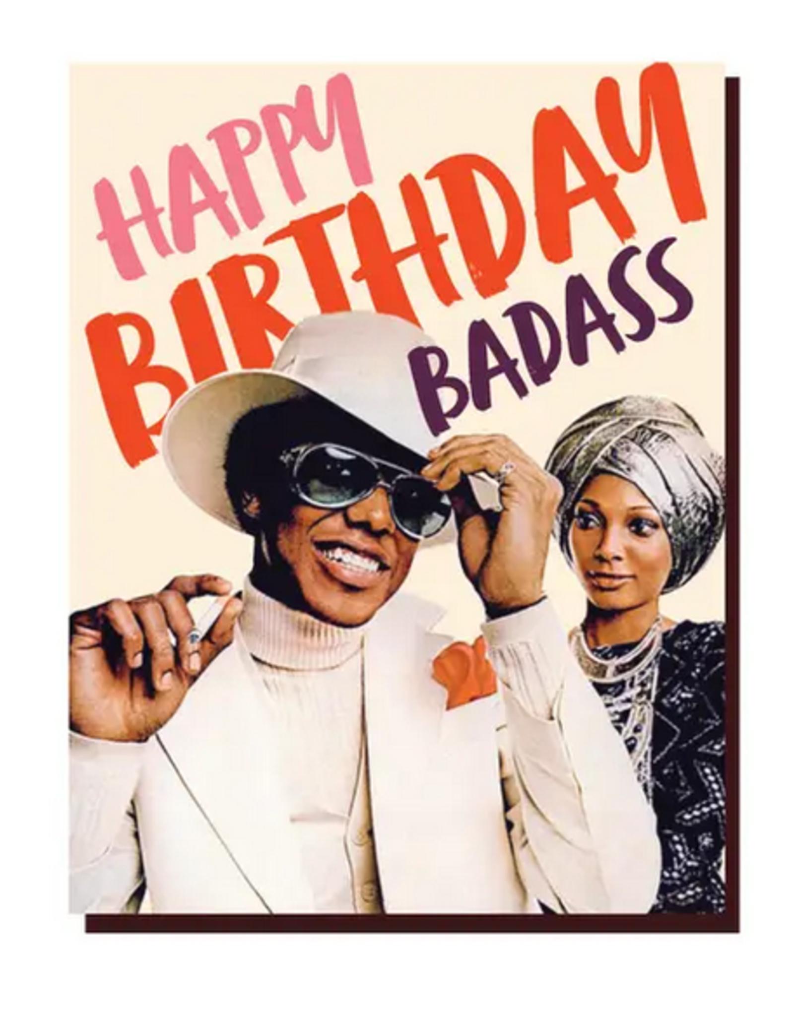 Happy Birthday Badass Greeting Card