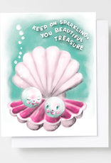 Keep On Sparkling, You Beautiful Treasure Riso Greeting Card