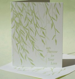 With Sorrow for Your Loss (Willow) Greeting Card