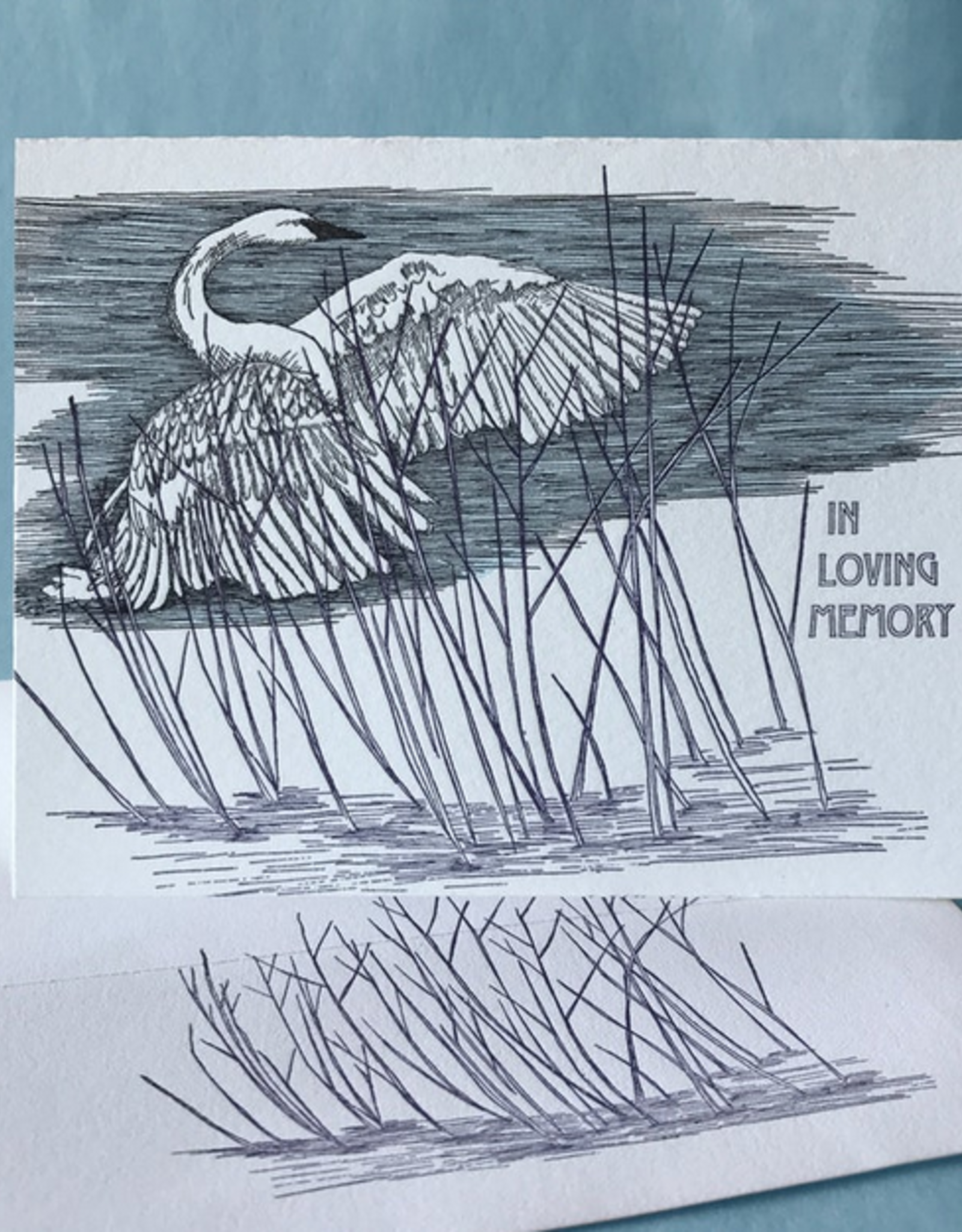 Painted Tongue Studios In Loving Memory (Swan) Greeting Card