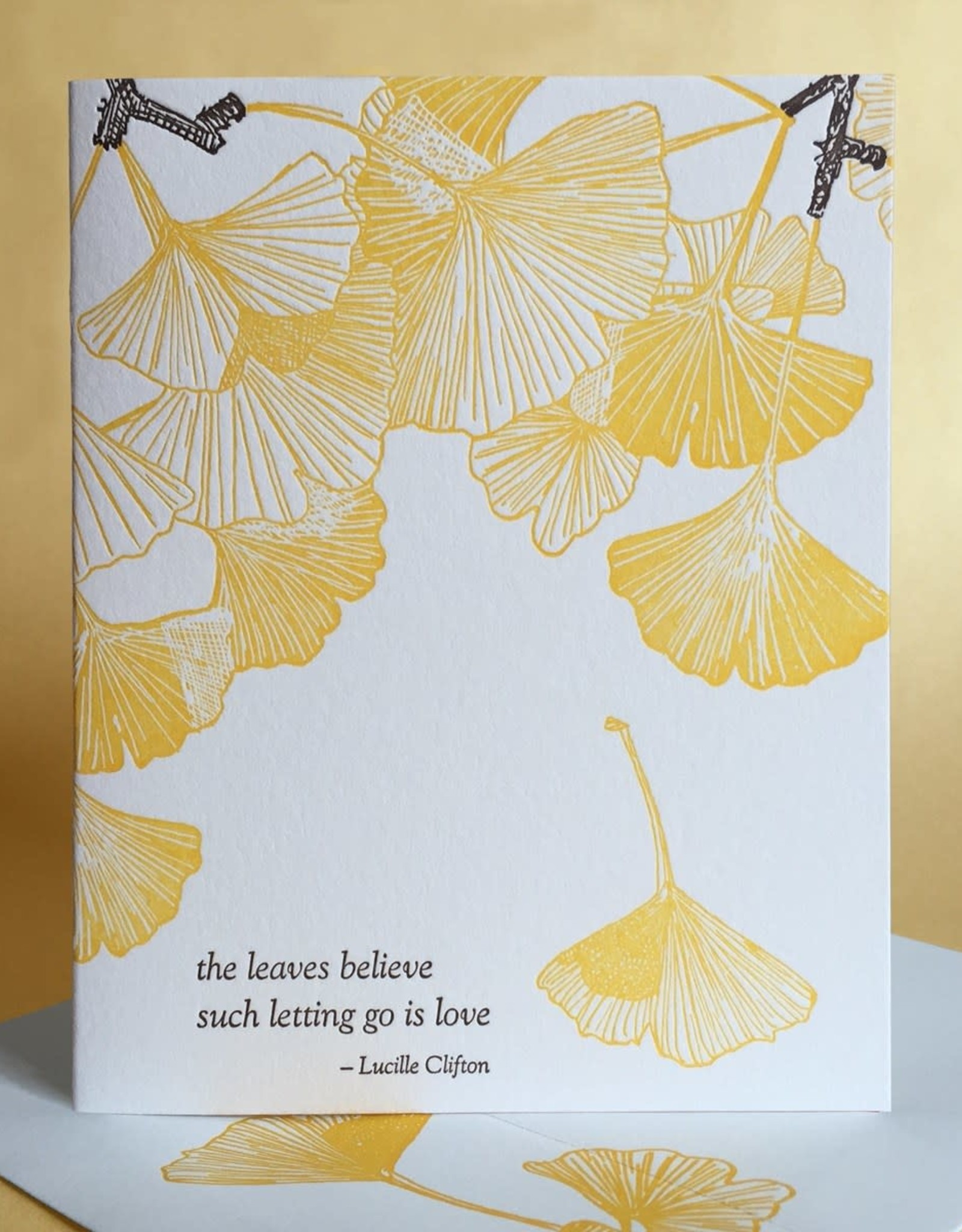 With Sympathy (Ginkgo) Greeting Card