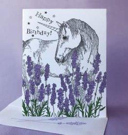 Happy Birthday Unicorn (Lavender) Greeting Card