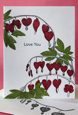 Love You (Bleeding Hearts) Greeting Card