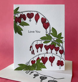 Love You (Bleeding Hearts) Greeting Card