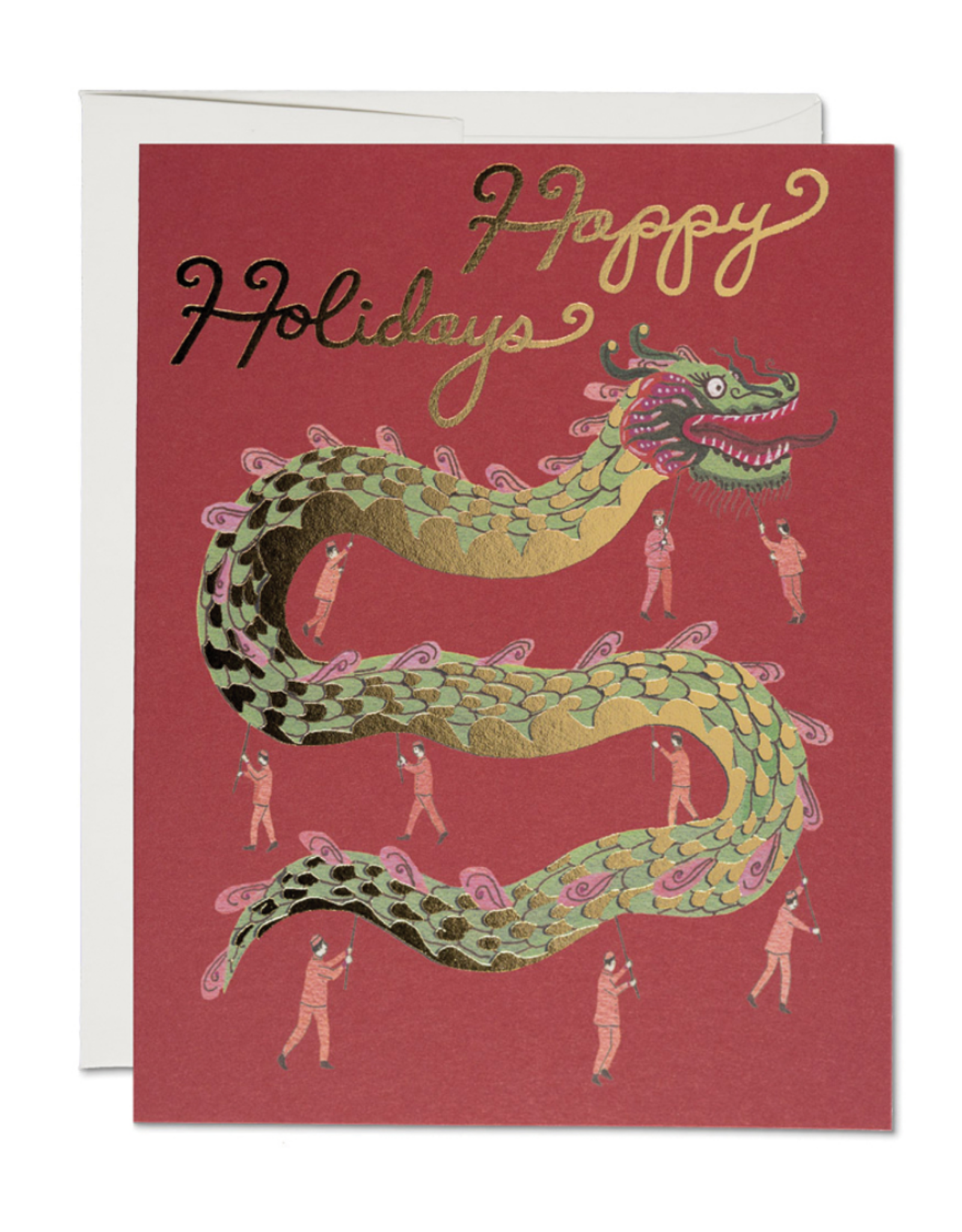 Happy Holidays Chinese Dragon Greeting Card