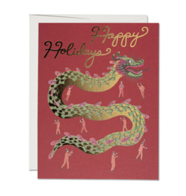Happy Holidays Chinese Dragon Greeting Card