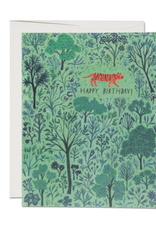 Happy Birthday Orange Tiger Greeting Card