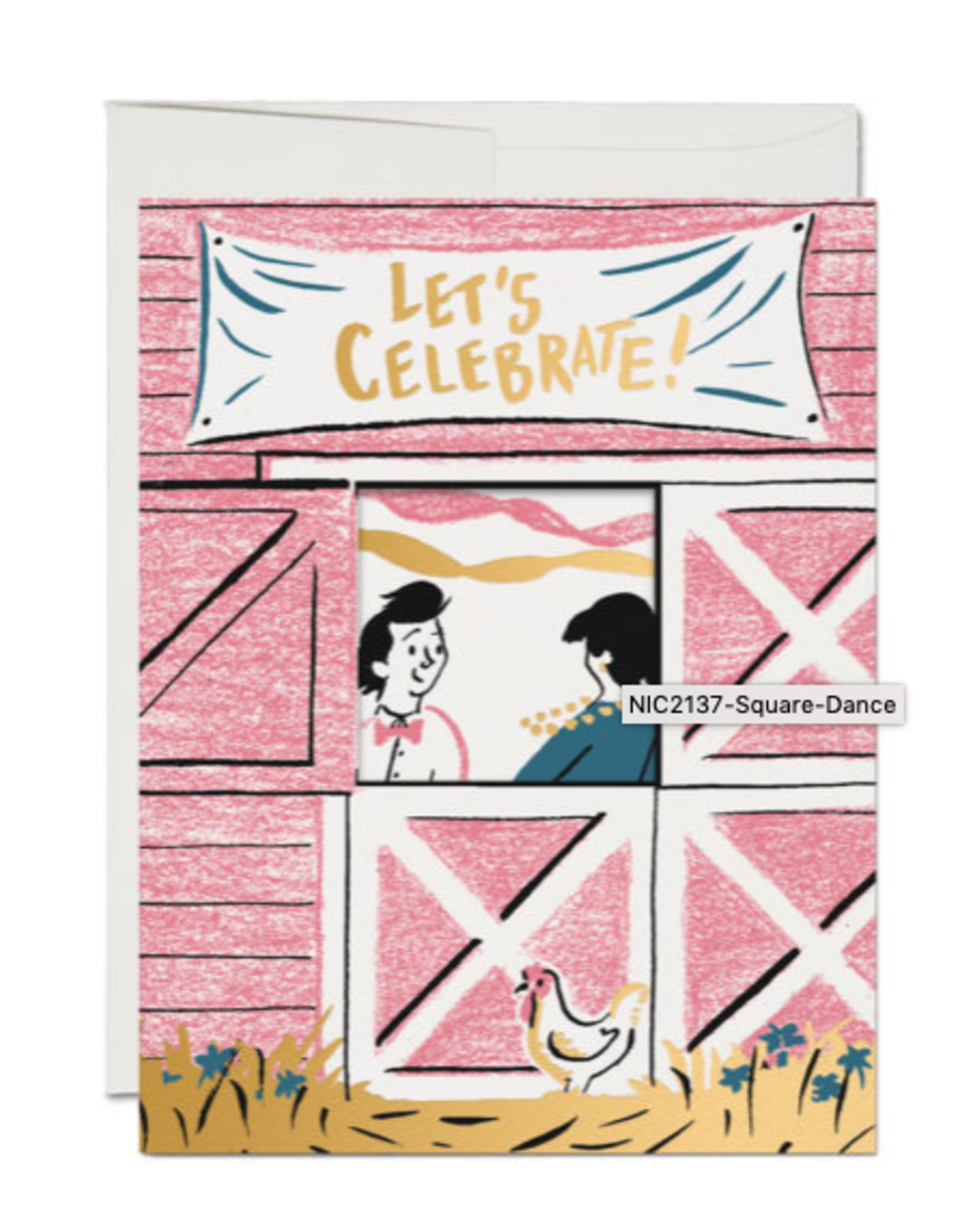 Let's Celebrate! Square Dancing Greeting Card