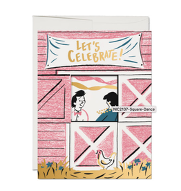 Let's Celebrate! Square Dancing Greeting Card