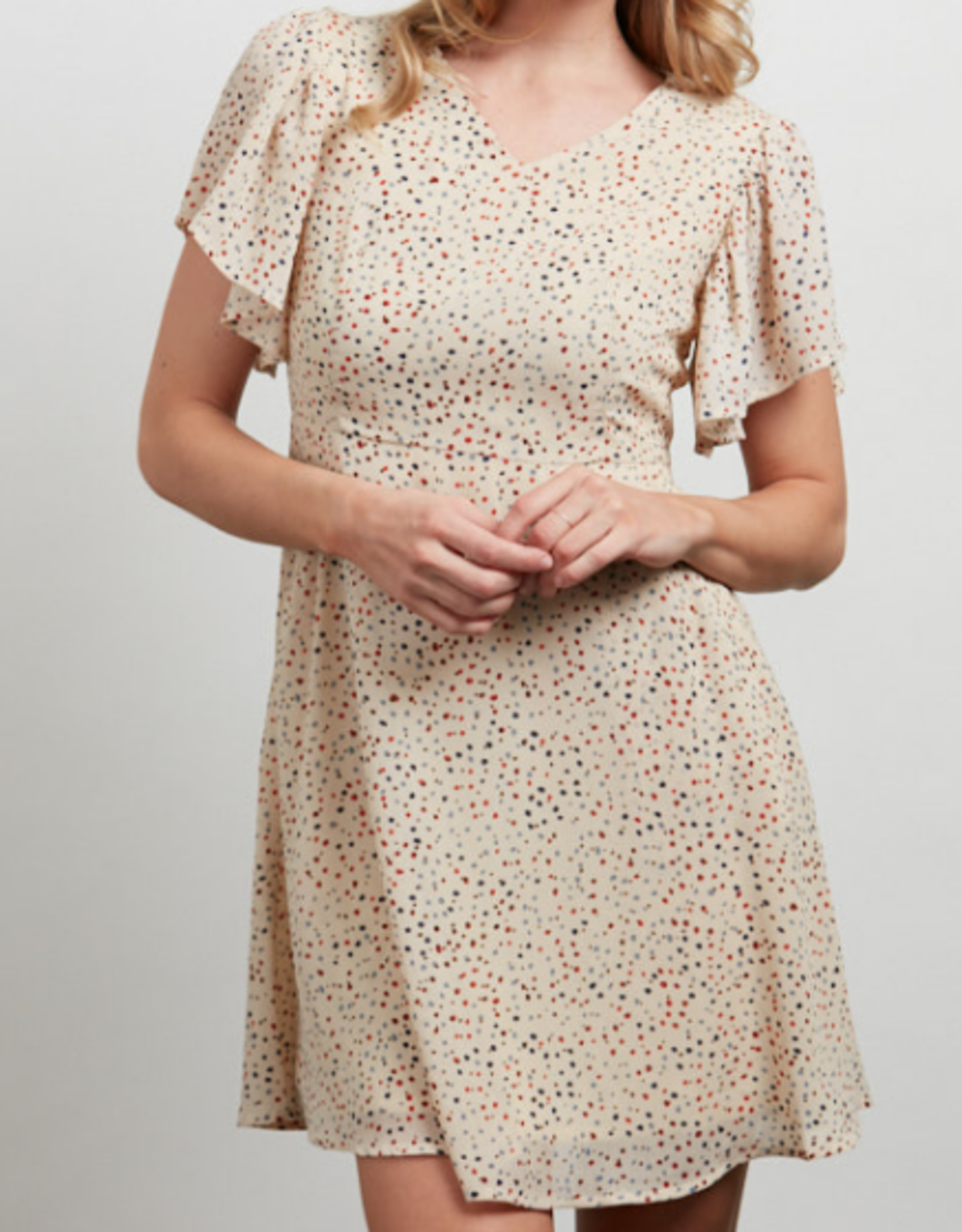 SM Wardrobe All Over Dots Print Dress