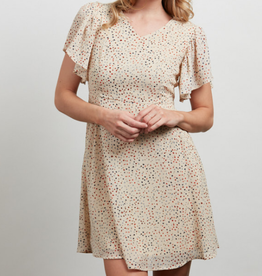 All Over Dots Print Dress