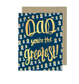 Badge Bomb Dad, You're The Greatest Greeting Card