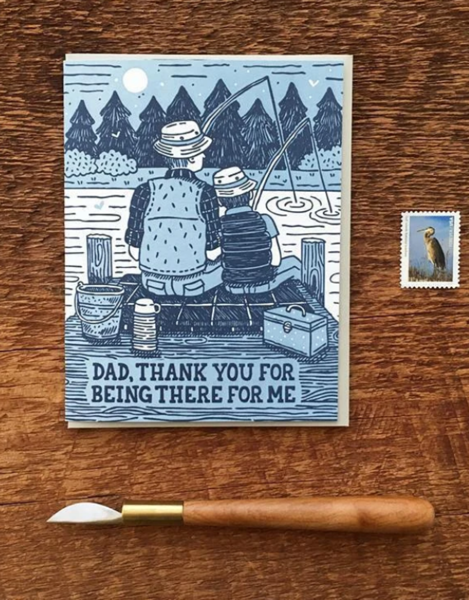 Dad, Thank You For Being There Greeting Card