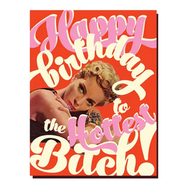 Offensive + Delightful Happy Birthday to the Hottest Bitch Greeting Card