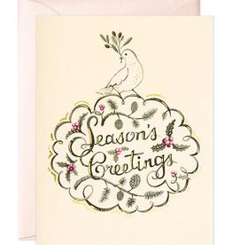 JooJoo Paper Dove Season's Greetings Holiday Card