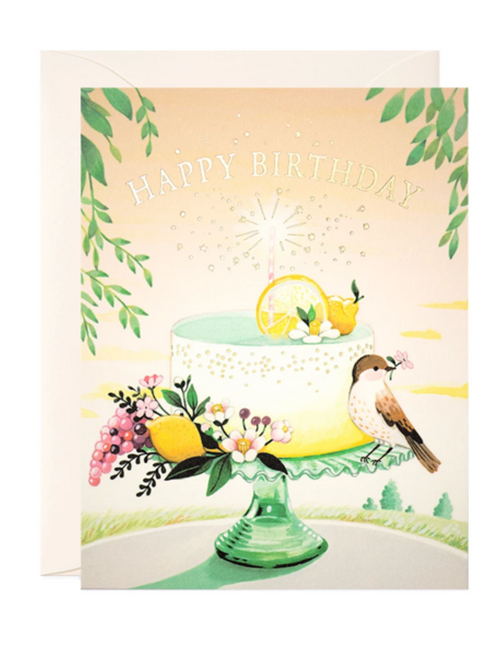 Happy Birthday (Lemon Cake) Greeting Card