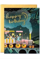 JooJoo Paper Happy Birthday (Train) Greeting Card
