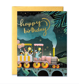 Happy Birthday (Train) Greeting Card