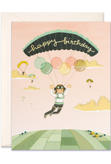 JooJoo Paper Happy Birthday (Paraglider) Greeting Card