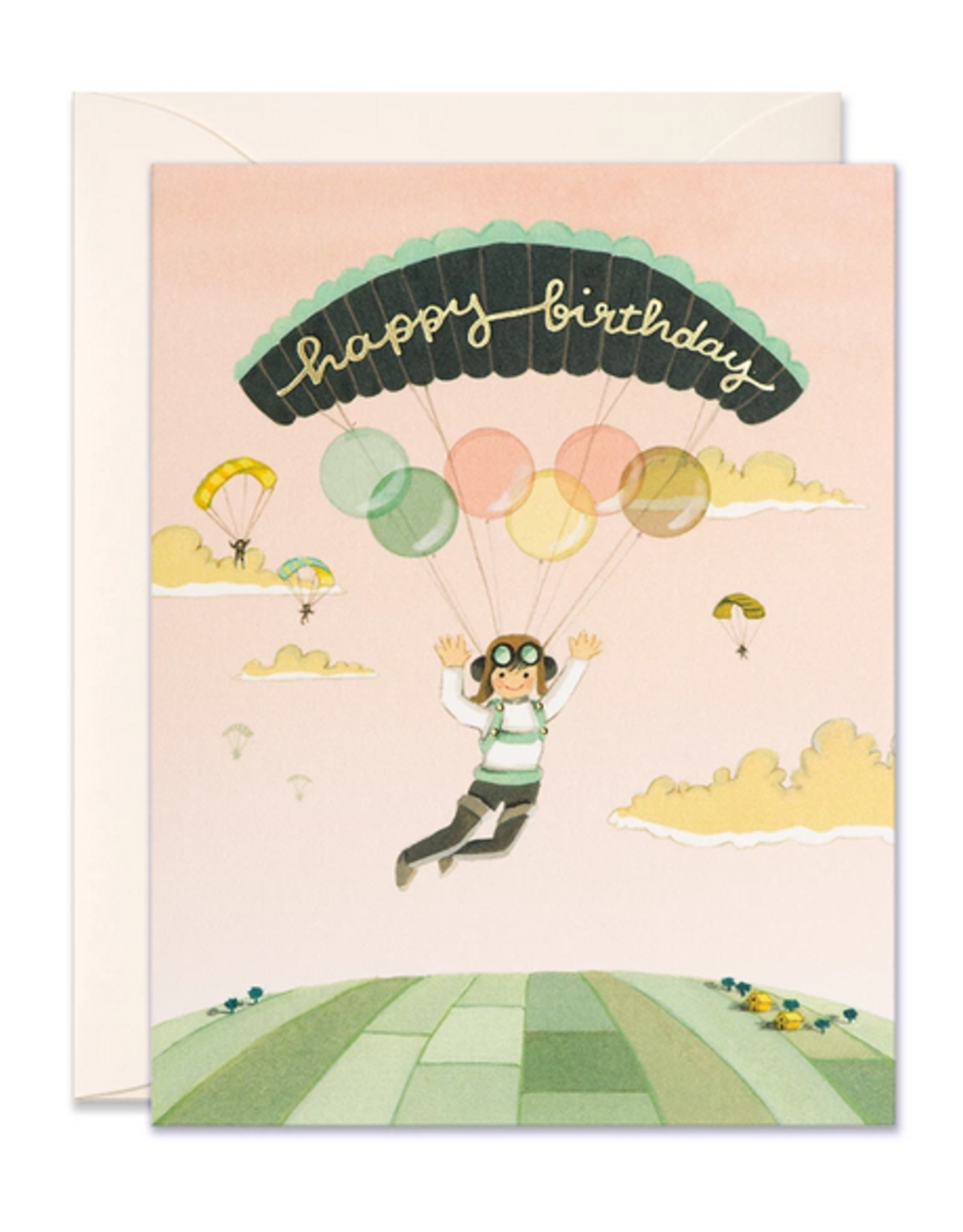 Happy Birthday (Paraglider) Greeting Card