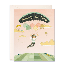 Happy Birthday (Paraglider) Greeting Card
