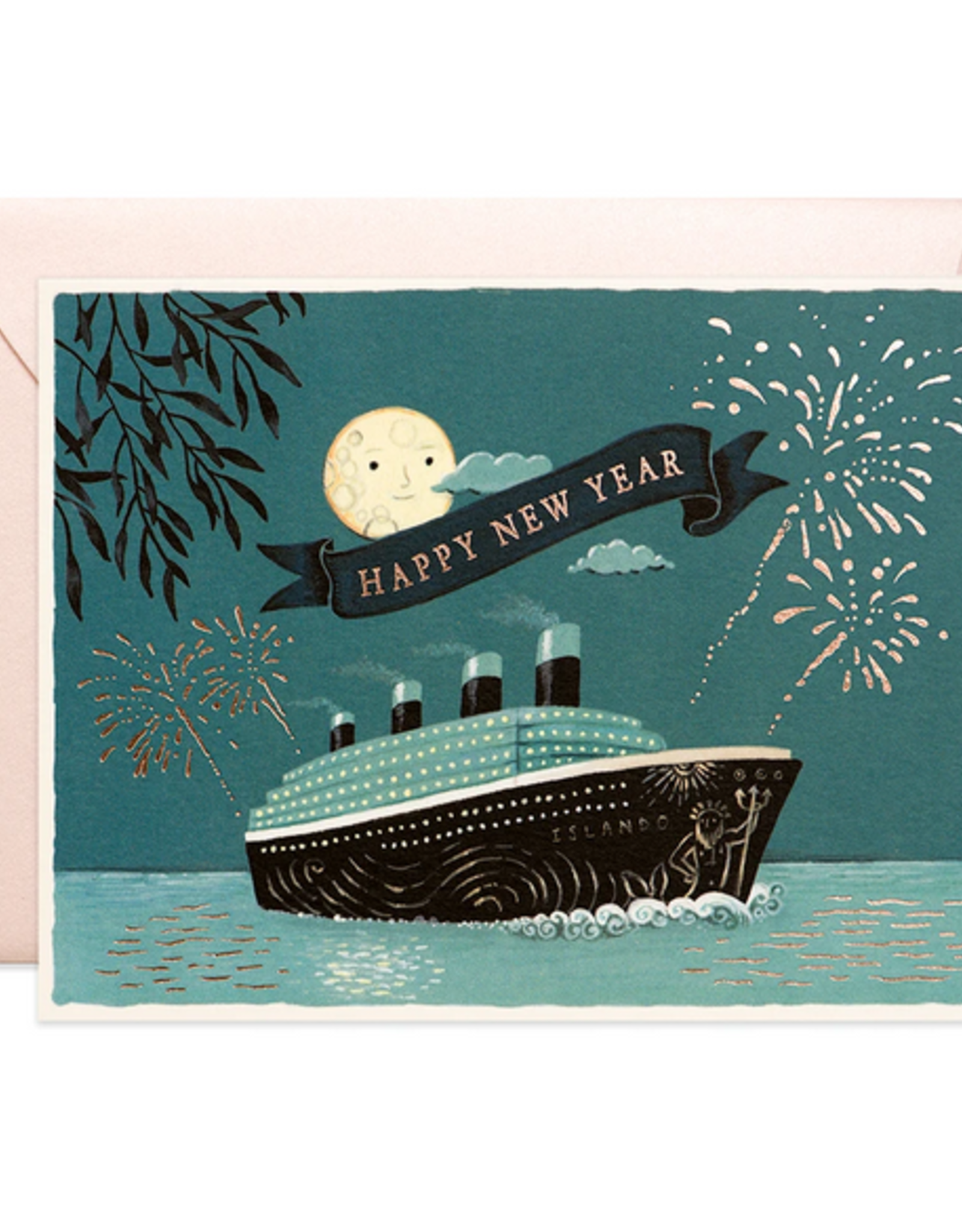New Year Cruise Greeting Card